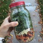 fall mason jar salad