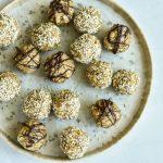 plate of oatmeal balls