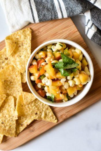 Peach, Corn & Hatch Green Chile Salsa