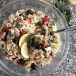 greek orzo salad with lemon dijon vinaigrette
