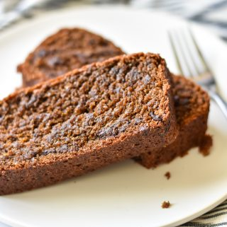sliced banana bread on plate