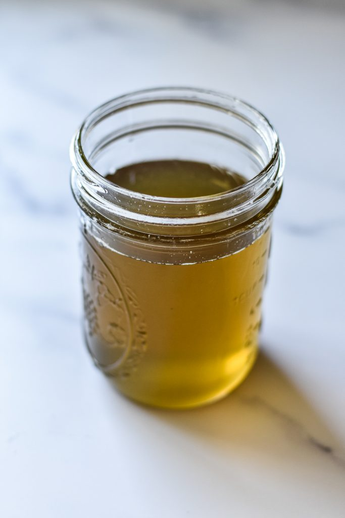 simple syrup in mason jar