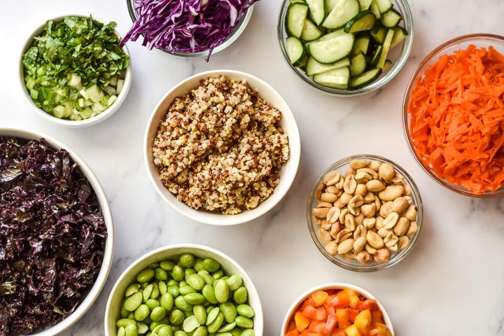 rainbow quinoa salad ingredients