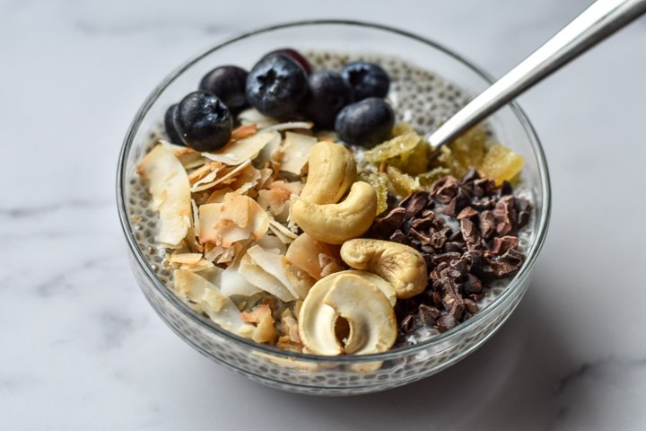 bowl of chia seed pudding