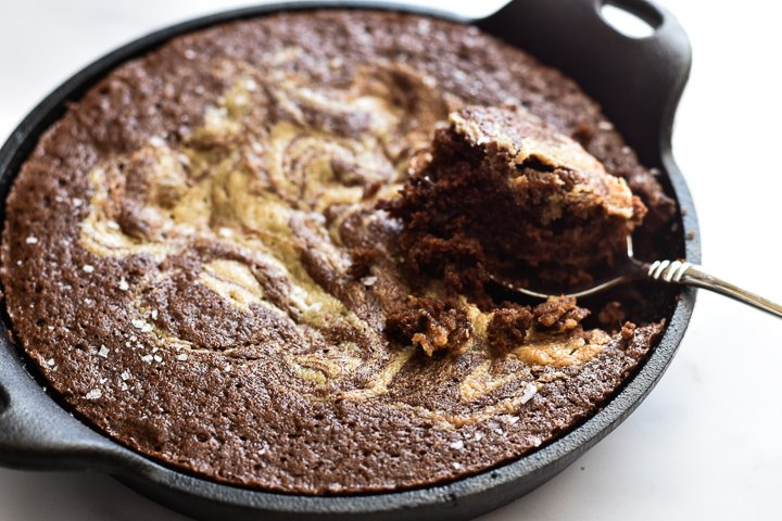 cast iron skillet brownies with bite