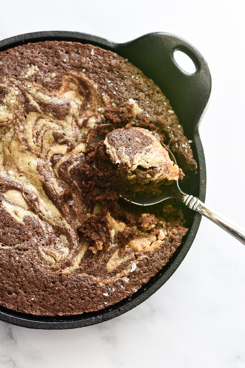 cast iron skillet brownies for two