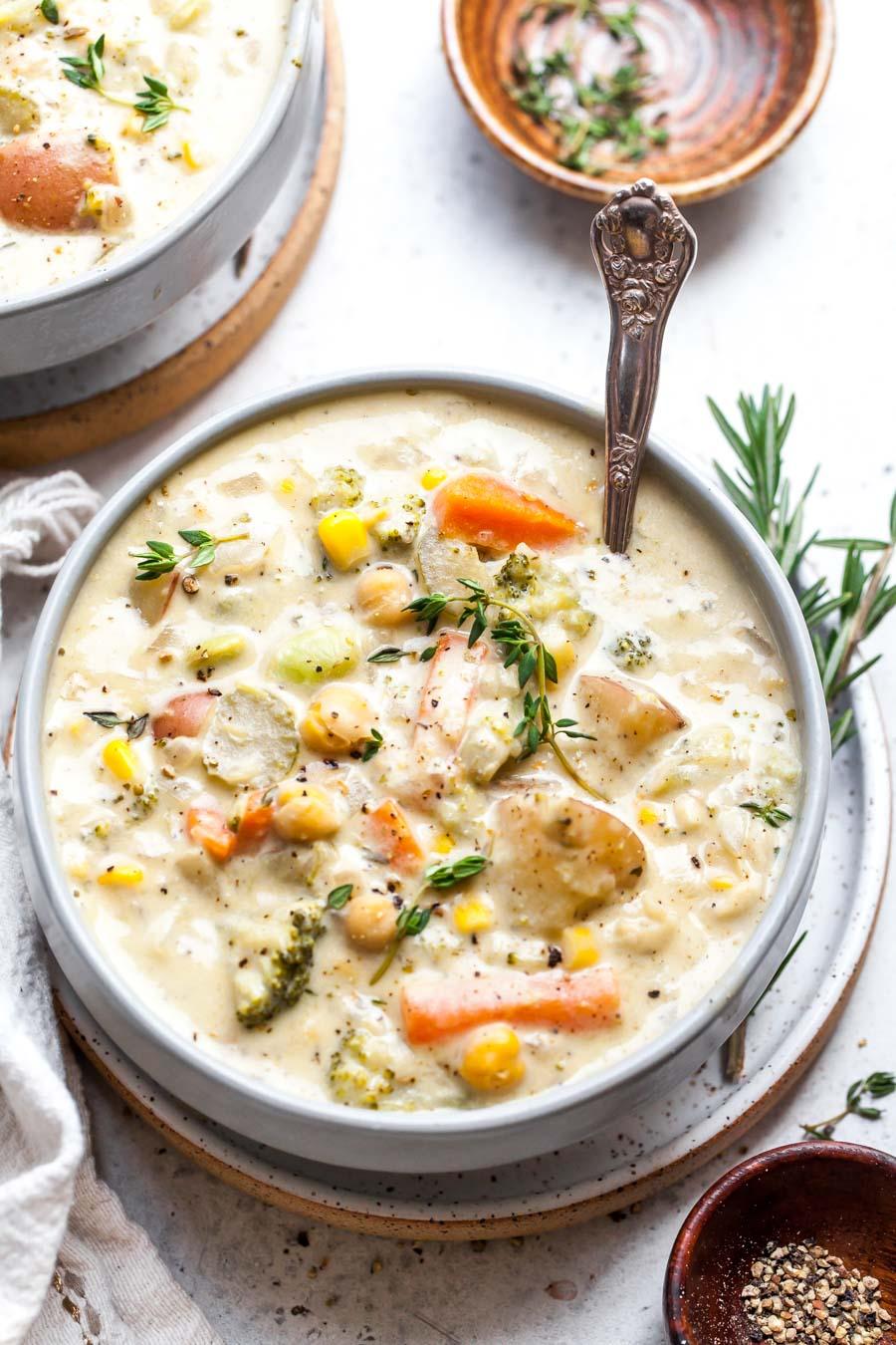 vegan creamy vegetable soup
