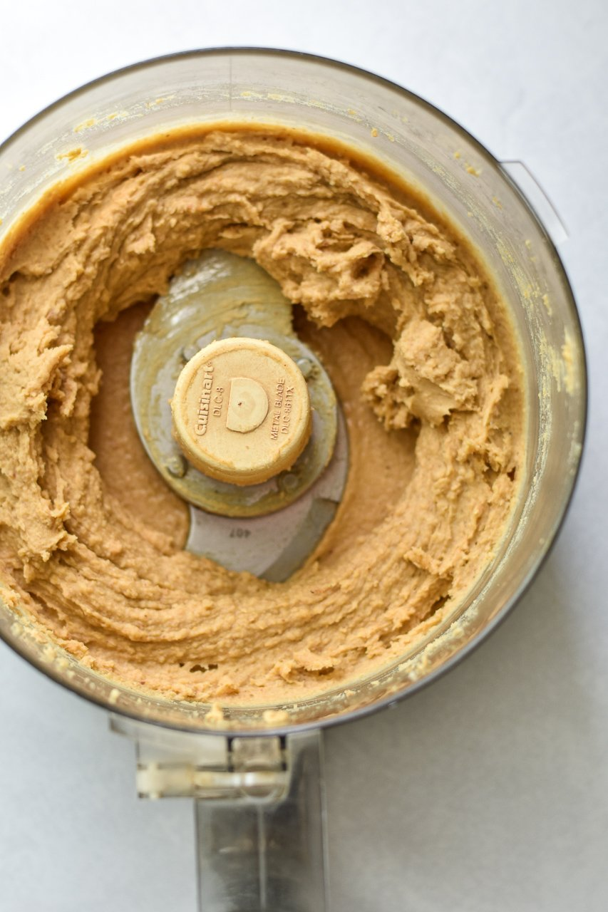 chickpea cookie dough ingredients pureed