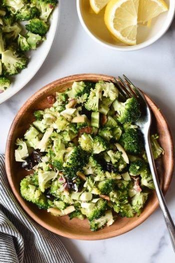 Broccoli Crunch Salad with Shallot Vinaigrette