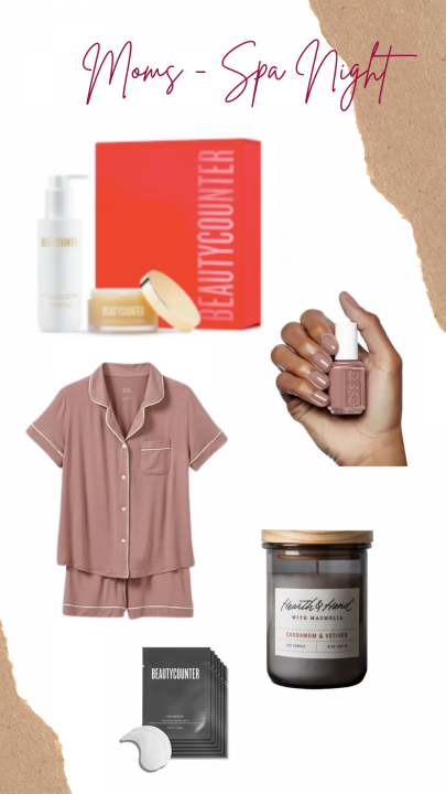 holiday gift ideas for the mom in your life including spa night items