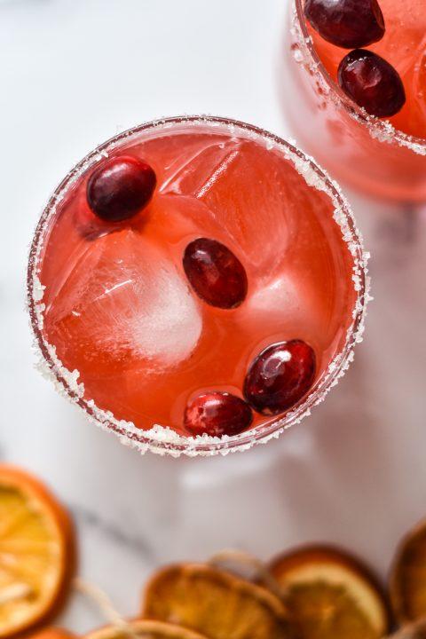 Fresh Cranberry Ginger Margaritas