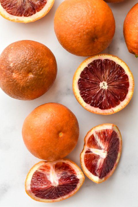 blood oranges scattered around