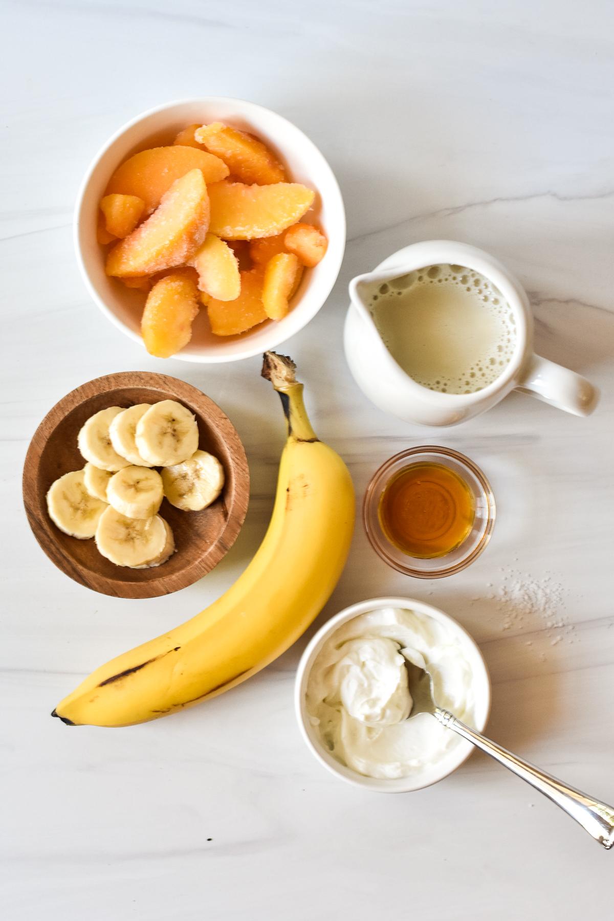banana peach smoothie ingredients