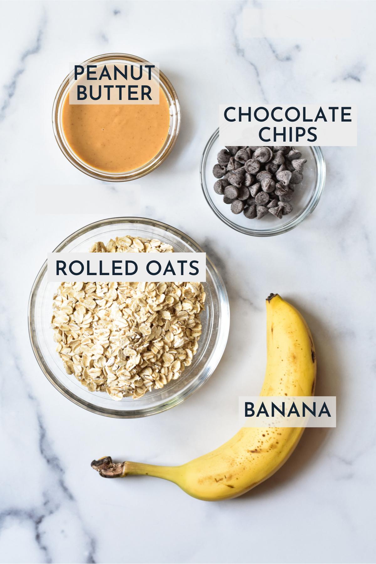 ingredients for 4 ingredient oatmeal cookies